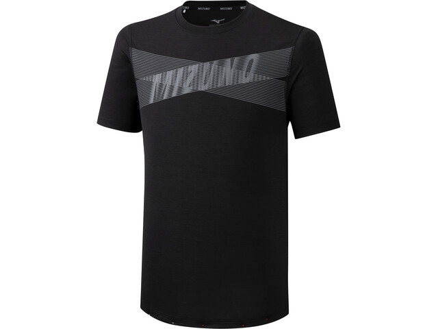 Mizuno Core Graphic T-Shirt Homme, black